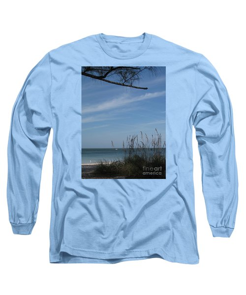 Long Sleeve T-Shirt featuring the photograph A Beautiful Day At A Florida Beach by Christiane Schulze Art And Photography