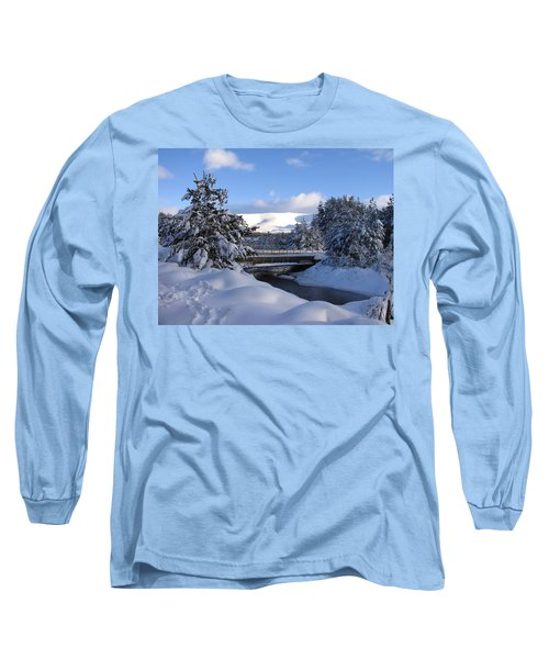 A Bridge In The Snow Long Sleeve T-Shirt