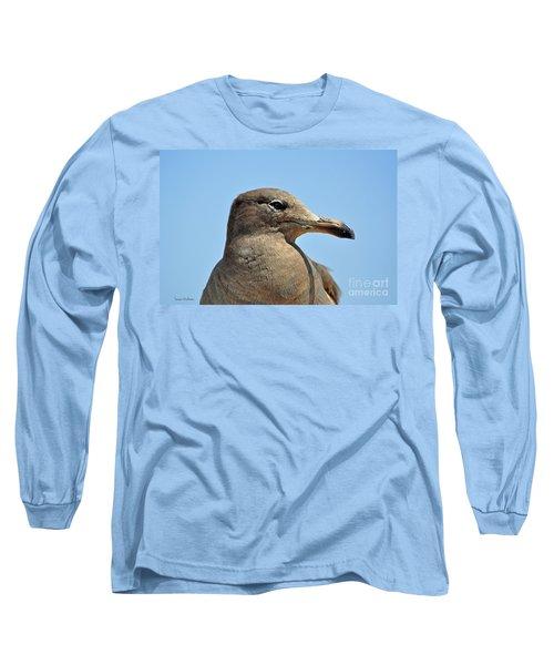 A Brown Gull In Profile Long Sleeve T-Shirt by Susan Wiedmann