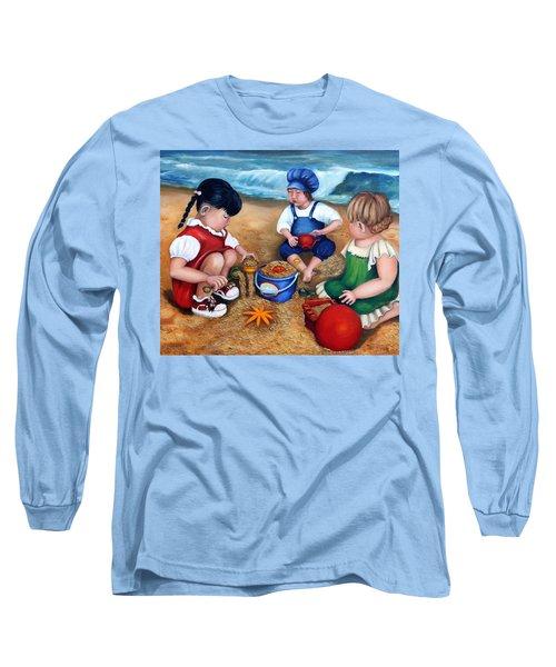 A Day At The Beach  Long Sleeve T-Shirt by Enzie Shahmiri
