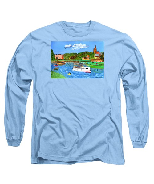 A Day On The River Long Sleeve T-Shirt by Magdalena Frohnsdorff