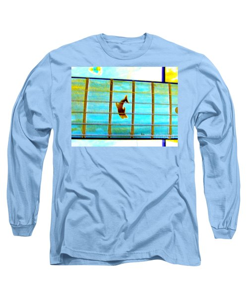 A Dolphin On A Guitar Ocean Long Sleeve T-Shirt