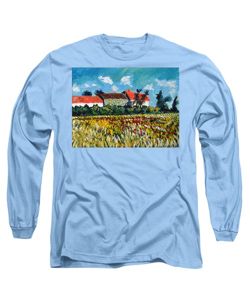 A Field In France Long Sleeve T-Shirt