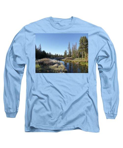 A Frosty Morning Along Obsidian Creek Long Sleeve T-Shirt