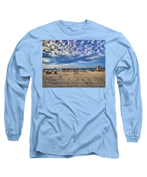 a good morning from Jerusalem beach  Long Sleeve T-Shirt by Ron Shoshani