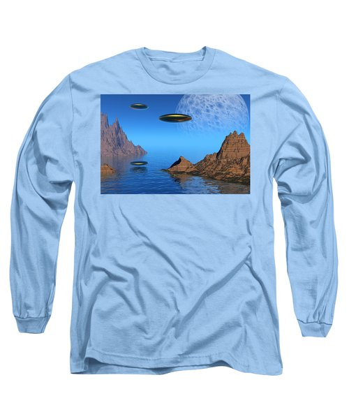 Long Sleeve T-Shirt featuring the digital art A Great Day For Flying by Lyle Hatch