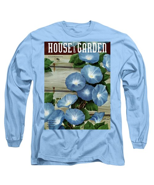 A House And Garden Cover Of Flowers Long Sleeve T-Shirt