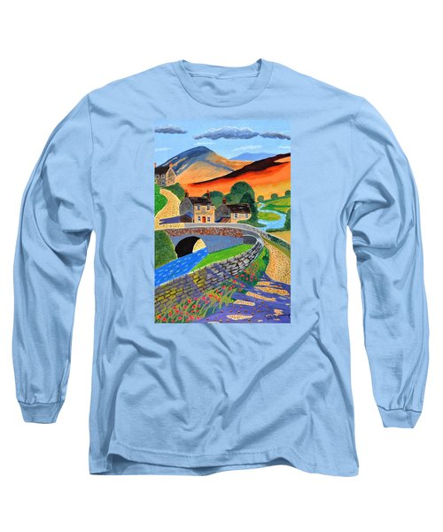 a Scottish highland lane Long Sleeve T-Shirt by Magdalena Frohnsdorff