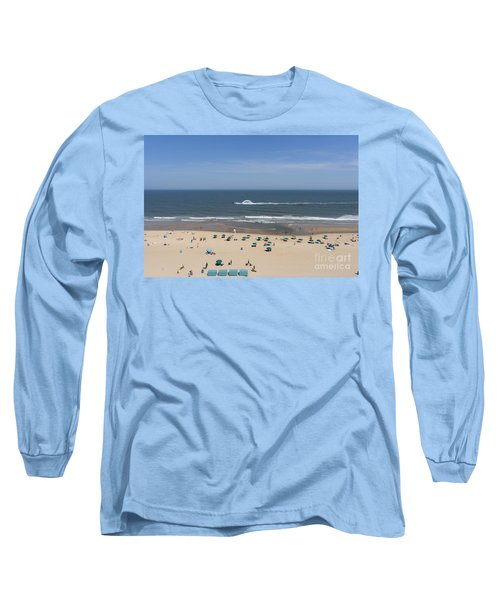 A Touring Speedboat Passes By Shore In Ocean City Maryland Long Sleeve T-Shirt