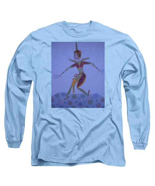 A Wild Dance Of A Nymph Long Sleeve T-Shirt by Marie Schwarzer