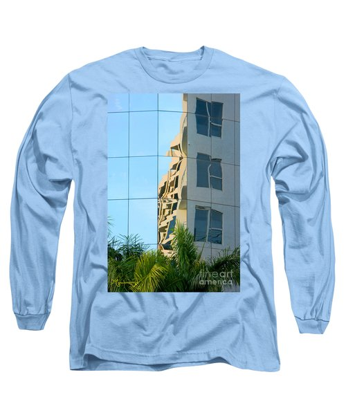 Abstract Architectural Shapes Long Sleeve T-Shirt by Mariarosa Rockefeller