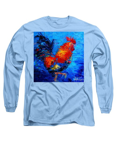 Abstract Colorful Gallic Rooster Long Sleeve T-Shirt