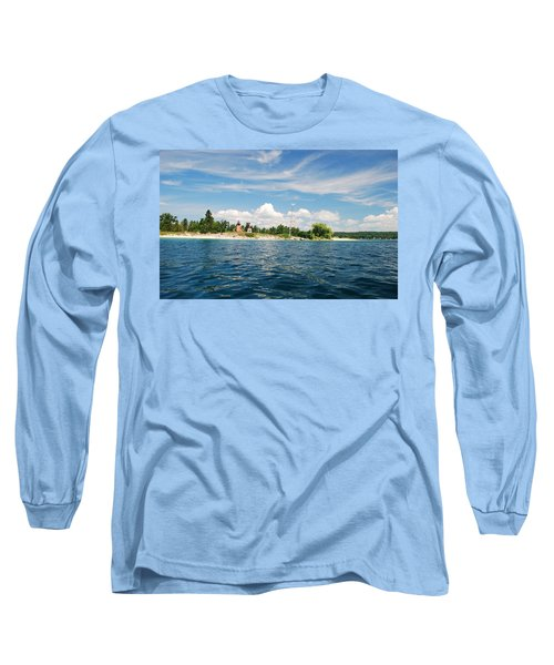 Long Sleeve T-Shirt featuring the photograph Across The Bay To The Light by Janice Adomeit