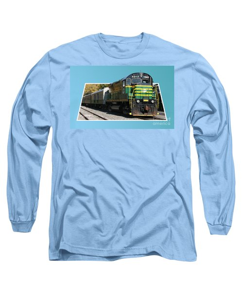Adirondack Railroad Long Sleeve T-Shirt by Mariarosa Rockefeller