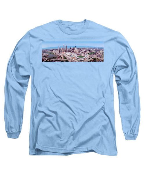 Aerial View Of Jacobs Field, Cleveland Long Sleeve T-Shirt