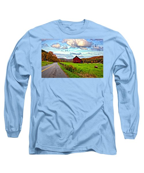 Ah...west Virginia Painted Long Sleeve T-Shirt by Steve Harrington