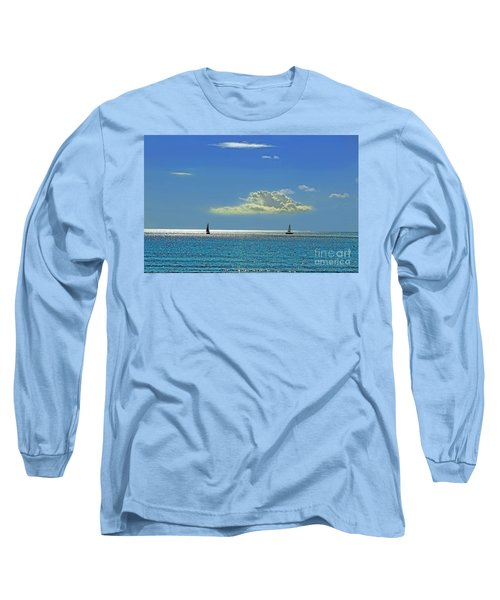 Long Sleeve T-Shirt featuring the photograph Air Beautiful Beauty Blue Calm Cloud Cloudy Day by Paul Fearn