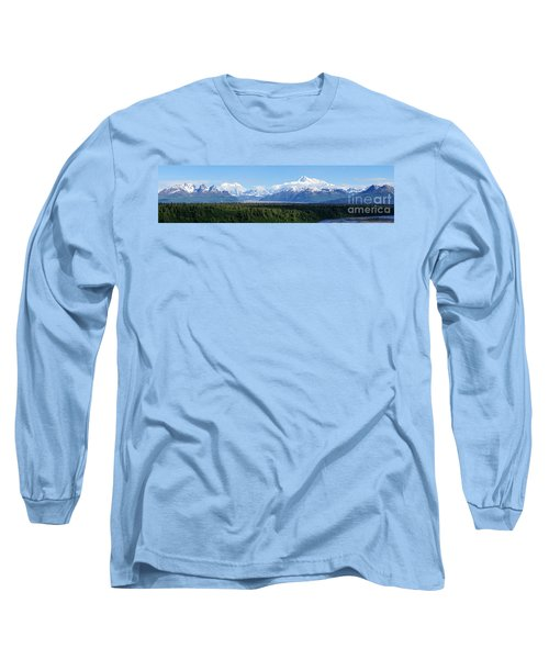 Alaskan Denali Mountain Range Long Sleeve T-Shirt by Jennifer White
