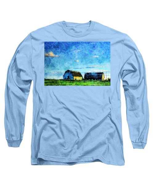 Alberta Barn At Sunset Long Sleeve T-Shirt