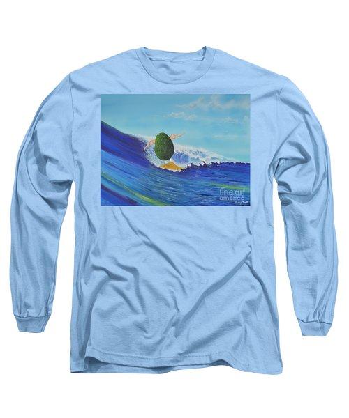 Alex The Surfing Avocado Long Sleeve T-Shirt