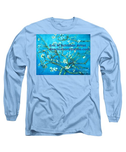 Almond Blossom Branches Long Sleeve T-Shirt by Eric  Schiabor