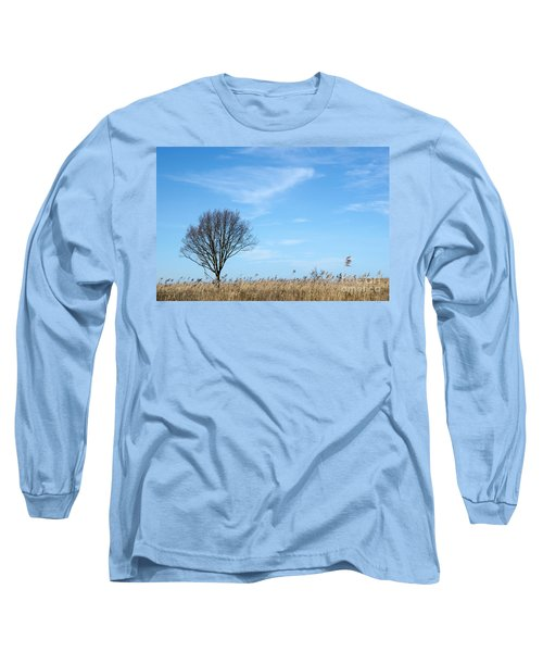 Long Sleeve T-Shirt featuring the photograph Alone Tree In The Reeds by Kennerth and Birgitta Kullman