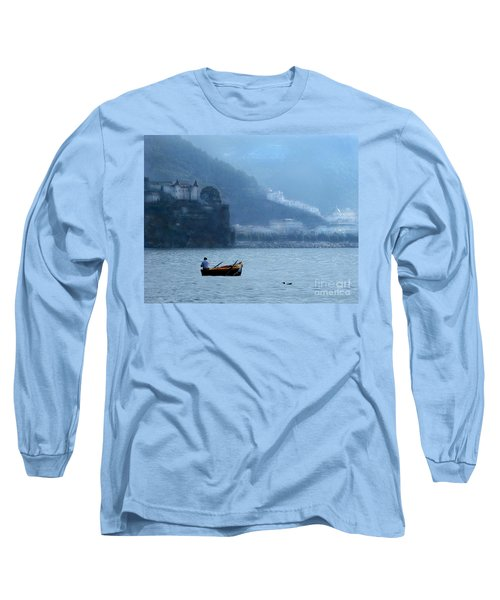 Long Sleeve T-Shirt featuring the photograph Amalfi To Capri. Italy by Jennie Breeze