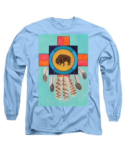 American Bison Dreamcatcher Long Sleeve T-Shirt