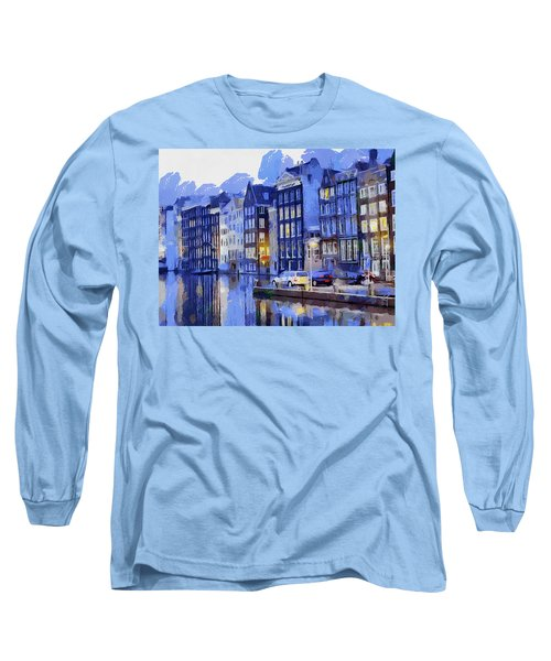 Amsterdam With Blue Colors Long Sleeve T-Shirt