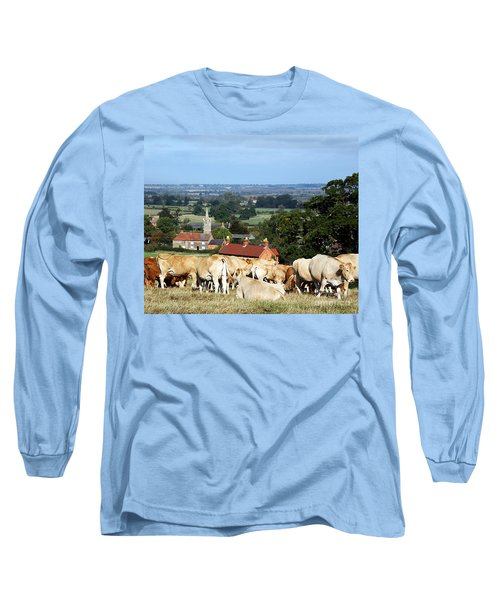 Long Sleeve T-Shirt featuring the photograph An English Summer Landscape by Linsey Williams