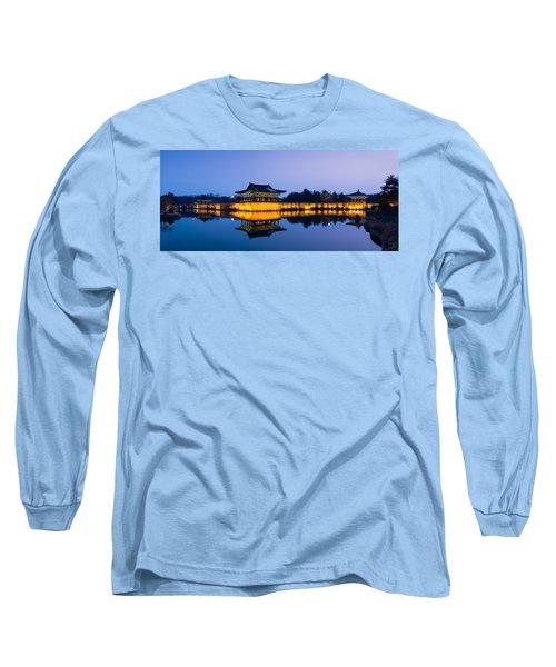 Anapji Pond At Dusk Long Sleeve T-Shirt