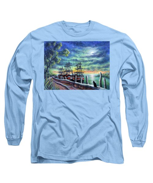 And We Shall Sail My Love And I Long Sleeve T-Shirt by Retta Stephenson