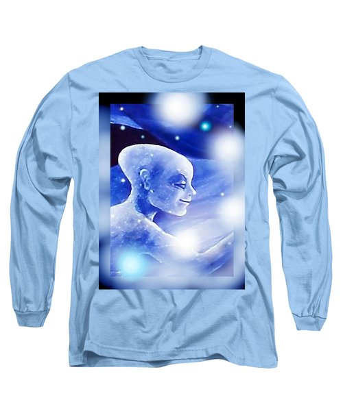 Long Sleeve T-Shirt featuring the painting Angel Portrait by Hartmut Jager
