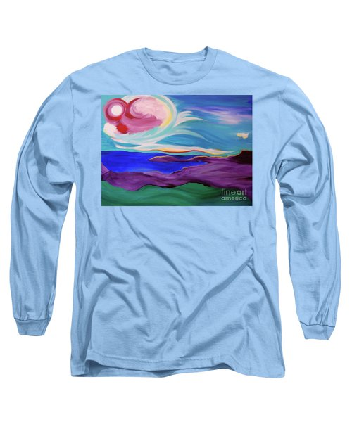 Long Sleeve T-Shirt featuring the painting Angel Sky by First Star Art