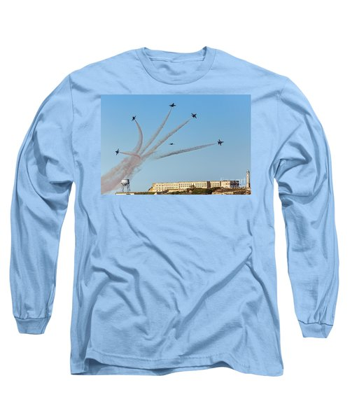 Angels Over Alcatraz Long Sleeve T-Shirt by Kate Brown