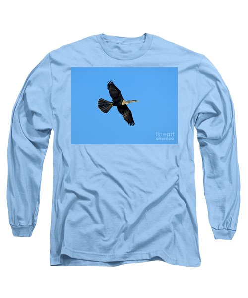 Anhinga Female Flying Long Sleeve T-Shirt