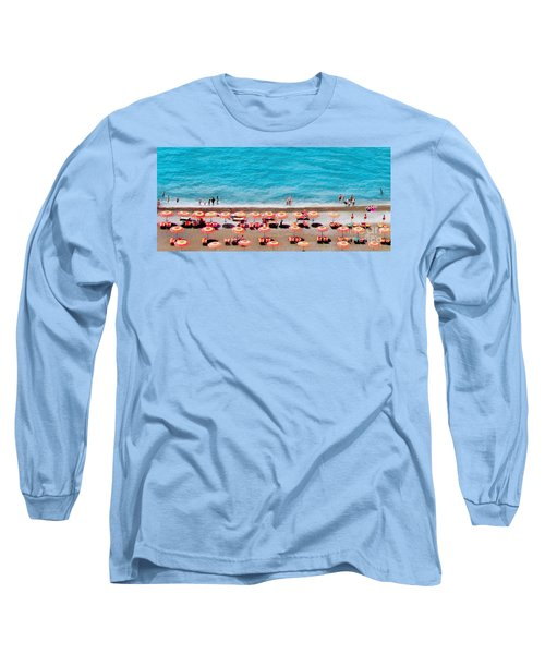 Another Day In Paradise-positano-digitized Long Sleeve T-Shirt by Jennie Breeze