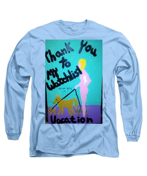 Long Sleeve T-Shirt featuring the painting Appreciation by Erika Chamberlin
