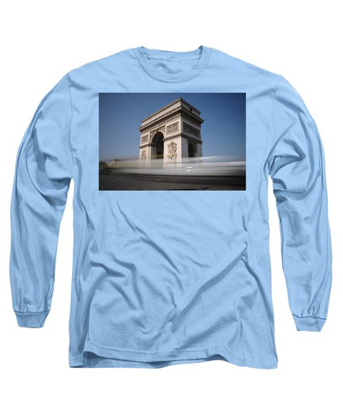 Arc De Triomphe Long Sleeve T-Shirt by Jeremy Voisey