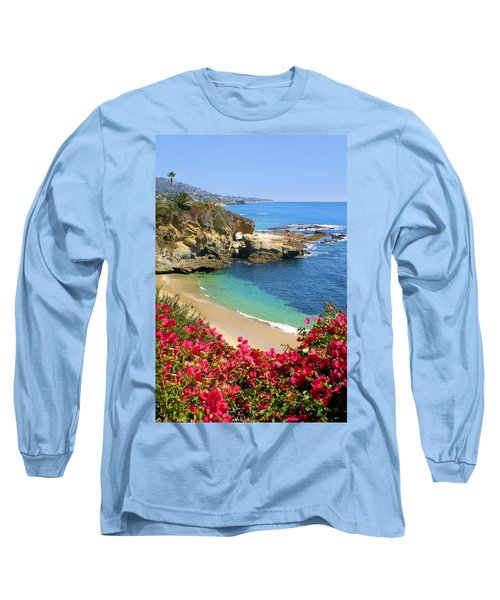 Arch Rock And Beach Laguna Long Sleeve T-Shirt