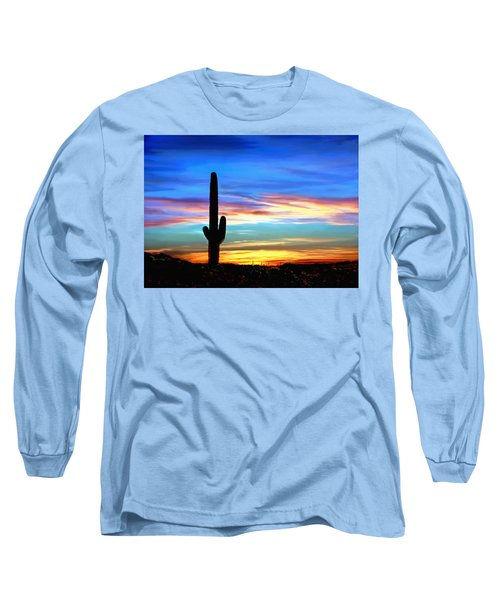 Arizona Sunset Saguaro National Park Long Sleeve T-Shirt