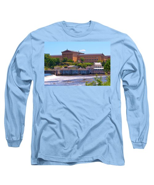 Art Museum And Fairmount Waterworks - Hdr Long Sleeve T-Shirt