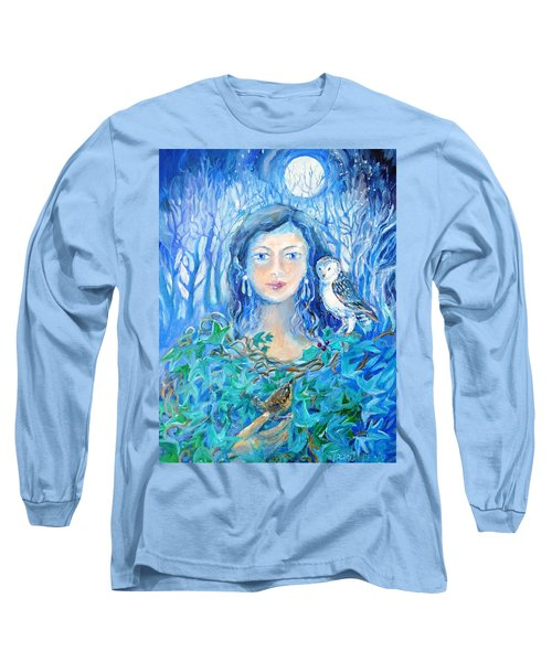 Artemis And The Wren- Long Sleeve T-Shirt by Trudi Doyle