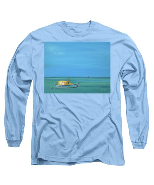 Long Sleeve T-Shirt featuring the painting Aruba by Donna Tuten