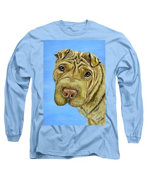 Beautiful Shar-pei Dog Portrait Long Sleeve T-Shirt