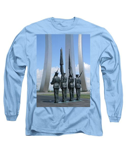 Long Sleeve T-Shirt featuring the photograph At Attention by Jean Goodwin Brooks