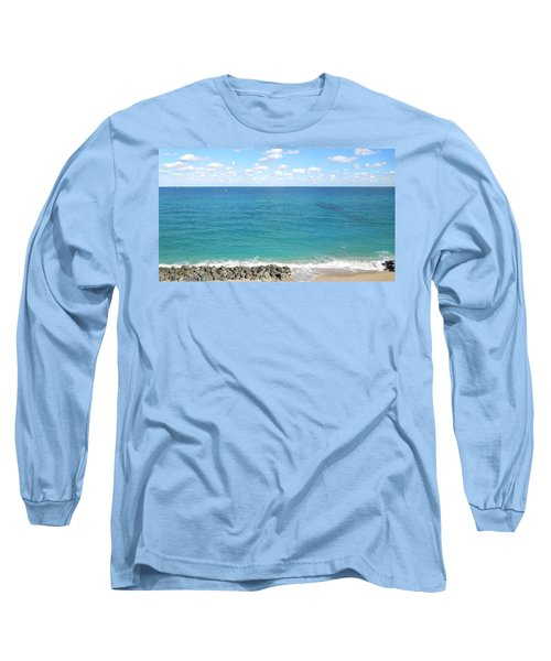 Atlantic Ocean In South Florida Long Sleeve T-Shirt