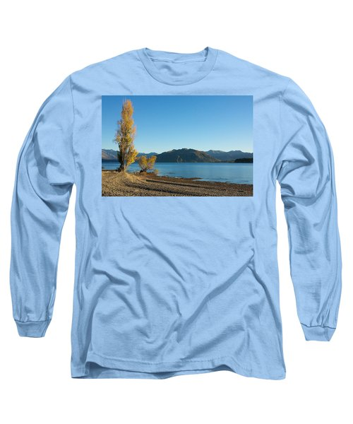 Autumn Trees At Lake Wanaka Long Sleeve T-Shirt by Stuart Litoff