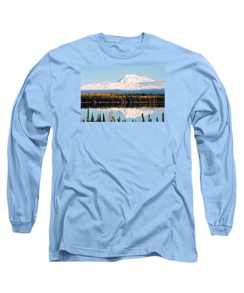 Autumn View Of Mt. Drum - Alaska Long Sleeve T-Shirt by Juergen Weiss
