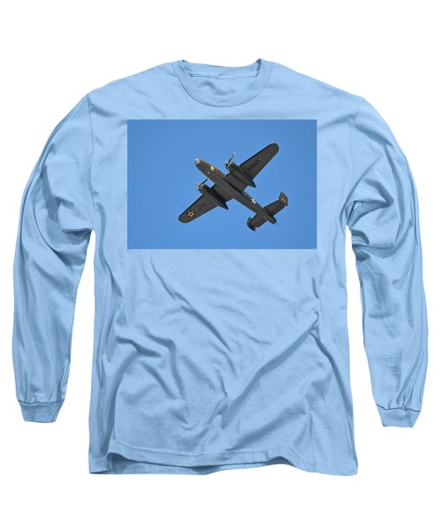 B25 Mitchell Wwii Bomber On 70th Anniversary Of Doolittle Raid Over Florida 21 April 2013 Long Sleeve T-Shirt by Jeff at JSJ Photography